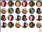 24 x Jon Bon Jovi wafer / rice paper cake toppers tops